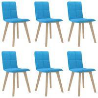 vidaXL virtuves krēsli, 6 gab., zili