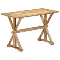 vidaXL virtuves galds, 140x70x76 cm, mango masīvkoks