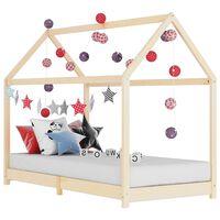 vidaXL bērnu gultas rāmis, priedes masīvkoks, 70x140 cm