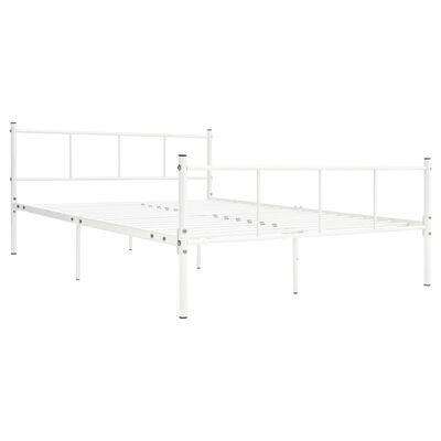 vidaXL gultas rāmis, balts metāls, 160x200 cm