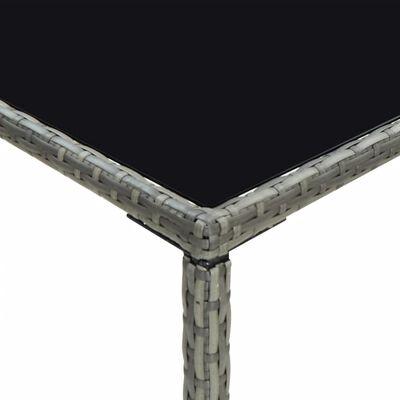 vidaXL 5-daļīgs dārza bāra mēbeļu komplekts, pelēka PE rotangpalma