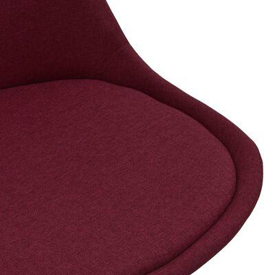 vidaXL virtuves krēsli, 2 gab., vīnsarkans audums