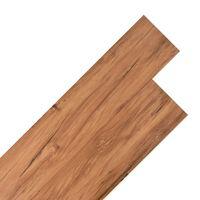 vidaXL grīdas dēļi, 4,46 m², 3 mm, dabīgas gobas koka krāsas PVC