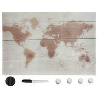 vidaXL magnētiskā tāfele, stiprināma pie sienas, stikls, 50x30 cm