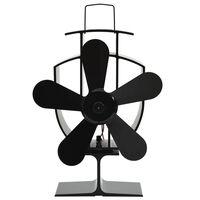 vidaXL karstuma izplūdes ventilators, 5 lāpstiņas, melns