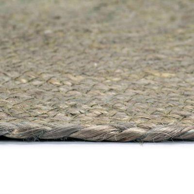 vidaXL galda paliktņi, 6 gab., 38 cm, apaļi, pelēka džuta