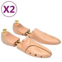 vidaXL apavu spriegotāji, 2 pāri, izmērs 44-45, priedes masīvkoks