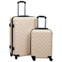 vidaXL cieto koferu komplekts, 2 gab., ABS, zelta krāsā