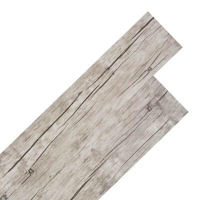 vidaXL grīdas dēļi, pašlīmējoši,5,02 m²,2 mm, balsināta ozolkoka krāsa