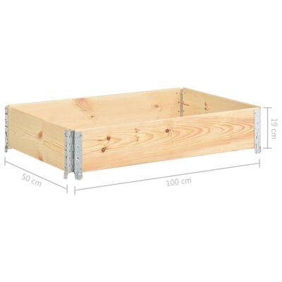 vidaXL palešu apmale, 50x100 cm, priedes masīvkoks