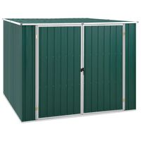 vidaXL dārza šķūnis, zaļa, 195x198x159 cm, cinkots tērauds