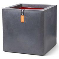 Capi puķu kaste Urban Smooth, kvadrāta, 50x50x50 cm, tumši pelēka
