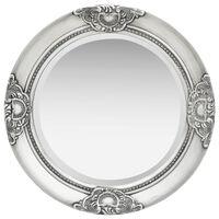 vidaXL baroka stila sienas spogulis, 50 cm, sudraba krāsā