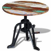 vidaXL galdiņš, pārstrādāts masīvkoks, čuguns, 60x(42-63) cm