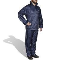 Lietus Kostīms Vīriešiem 2-daļas tumši Zils XL-Izmērs