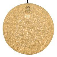 vidaXL piekaramā lampa, 45 cm, E27, sfēriska, krēmkrāsā