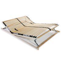 vidaXL gultas redeles, 28 līstītes, 7 zonas, 120x200 cm
