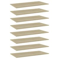 vidaXL plauktu dēļi, 8 gab., ozolkoka, 80x30x1,5 cm, skaidu plāksne