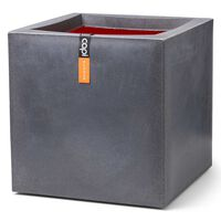 Capi puķu kaste Urban Smooth, 30x30x30 cm, kvadrātveida, tumši pelēka
