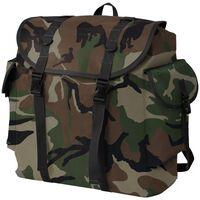 vidaXL mugursoma, 40 L, kamuflāžas krāsā, armijas stils