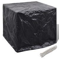 vidaXL dārza ūdens tvertnes pārklājs, 8 gredzeni, 116x100x120 cm