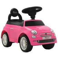 vidaXL bērnu rotaļu mašīna, Fiat 500, rozā
