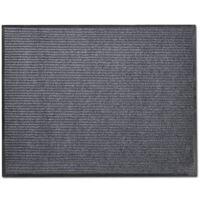 Pelēks durvju paklājs, PVC 90 x 60 cm