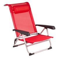 Bo-Camp pludmales krēsls, alumīnijs, sarkans, 1204793