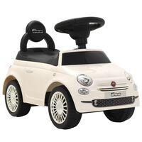 vidaXL bērnu rotaļu mašīna, Fiat 500, balta