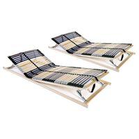 vidaXL gultas redeles, 2 gab., 42 līstītes, 7 zonas, 90x200 cm
