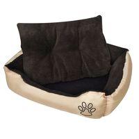 vidaXL suņu gulta ar polsterētu spilvenu, silta, XL izmērs