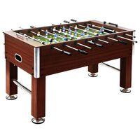 vidaXL galda futbols, 140x74,5x87,5 cm, 60 kg, tērauds, brūns