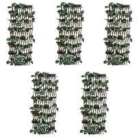 vidaXL špaleru žogi, 5 gab., ar mākslīgām lapām,180x60 cm, vītols