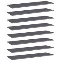 vidaXL plauktu dēļi, 8 gab., pelēki, 100x30x1,5 cm, skaidu plāksne