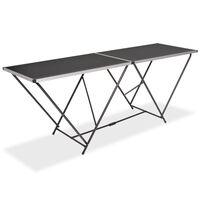 vidaXL salokāms galds līmēšanai, 200x60x78 cm, MDF, alumīnijs