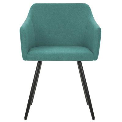 vidaXL virtuves krēsli, 6 gab., zaļš audums