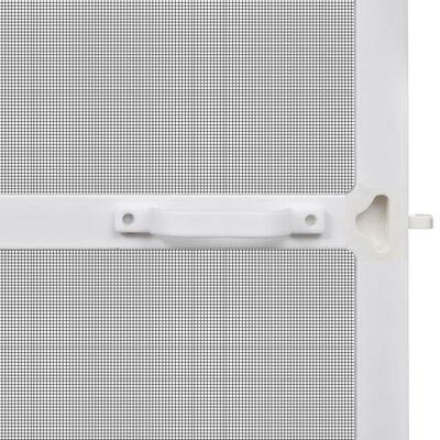 Insektu Siets ar Rāmi Durvīm 100 x 215 cm Balts, ar Eņģēm