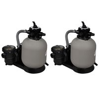 vidaXL baseina sūkņi ar smilšu filtru, 2 gab., 600 W, 17000 l/h
