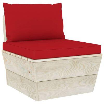 vidaXL palešu dīvānu matrači, 2 gab., sarkans audums