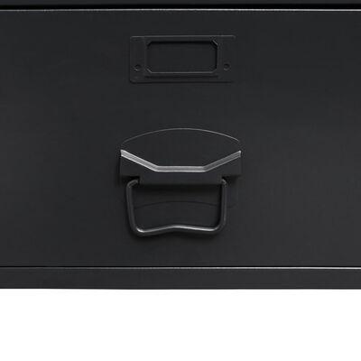 vidaXL drēbju skapis, 90x40x180 cm, industriāls stils, melns metāls