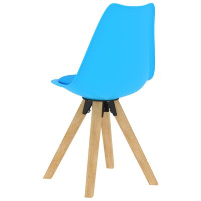 vidaXL virtuves krēsli, 2 gab., zili