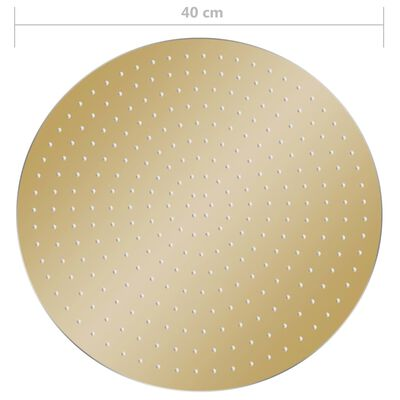 vidaXL lietus dušas galva, 40 cm, apaļa, tērauds, zelta krāsā
