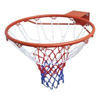 vidaXL basketbola grozs ar tīklu, oranžs, 45 cm