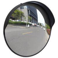 Izliekts satiksmes spogulis, PC plastmasa, melns, 30 cm