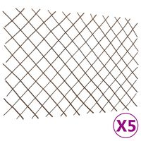 vidaXL špaleru žogi, 5 gab., 180x120 cm, vītola klūgas