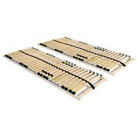 vidaXL gultas redeles, 2 gab., ar 28 līstītēm, 7 zonas, 70x200 cm
