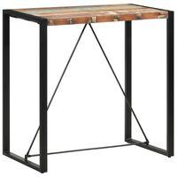 vidaXL bāra galds, 110x60x110 cm, pārstrādāts masīvkoks