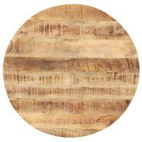 vidaXL galda virsma, 25-27 mm, 40 cm, apaļa, mango masīvkoks