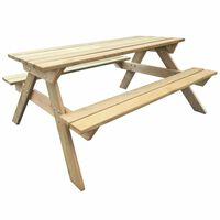 vidaXL piknika galds, 150x135x71,5 cm, koks