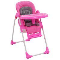 vidaXL bērnu barošanas krēsls, rozā ar pelēku